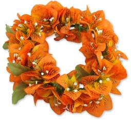 Bougainvillea Headband - Orange