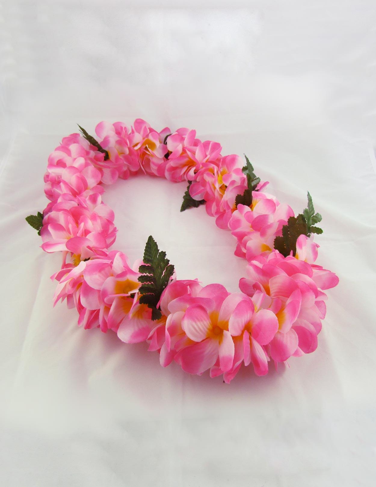 Pink Plumerias Silk Hawaii Flower Leis Shaka Time Hawaii Clothing Store