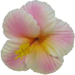 Medium Hibiscus Hair Clip - Hawaiian Aloha Shirts - Shaka Time Hawaiian Shirt Co.