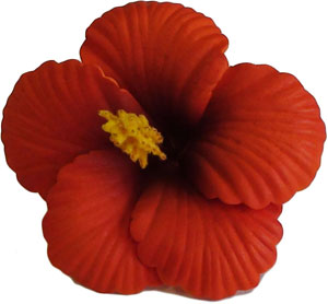 Medium Hibiscus Hair Clip - Hawaiian Aloha Shirts - Shaka Time Hawaiian Shirt Co. :  foam flower accessori hawaiian