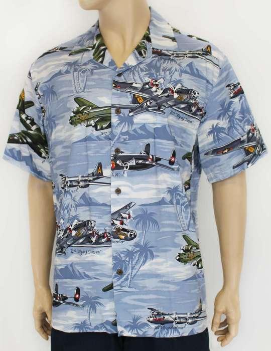 0a46ebec B17 Bomber Aircraft Aloha Shirt: Shaka Time Hawaii Clothing Store