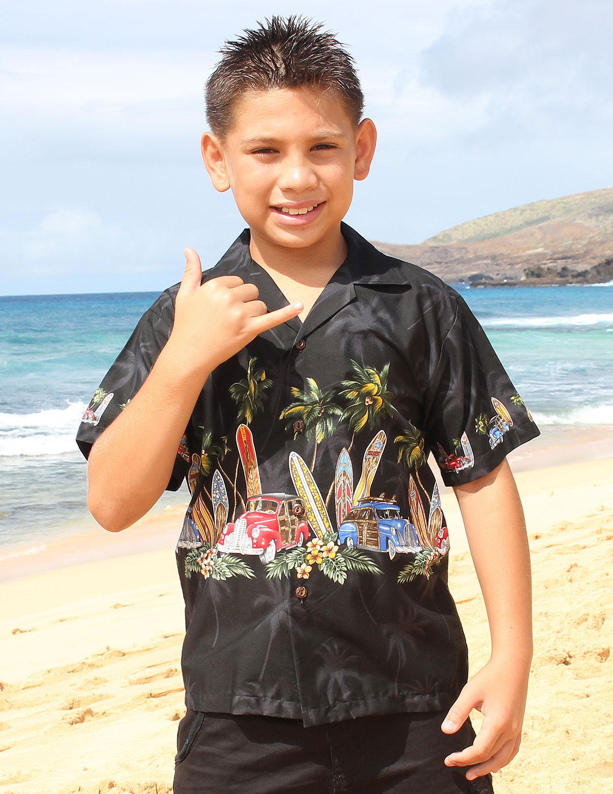 Aloha Boys Black Shirt
