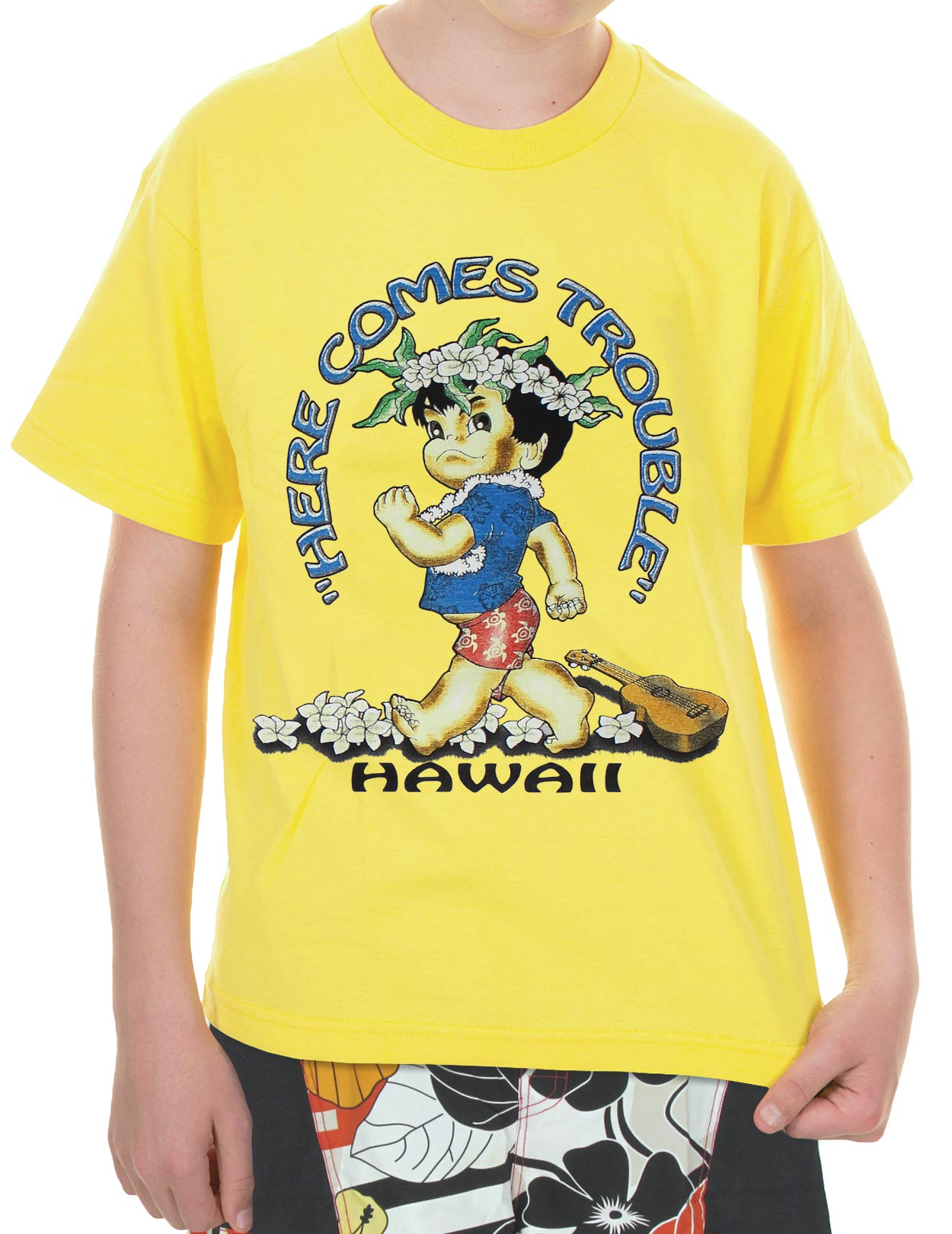 Boys T-Shirts - Here comes Trouble: Shaka Time Hawaii Clothing Store