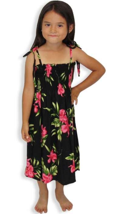6a1ce7a57bb Okalani - Smocked Girls Tube Top Dress  Shaka Time Hawaii Clothing Store
