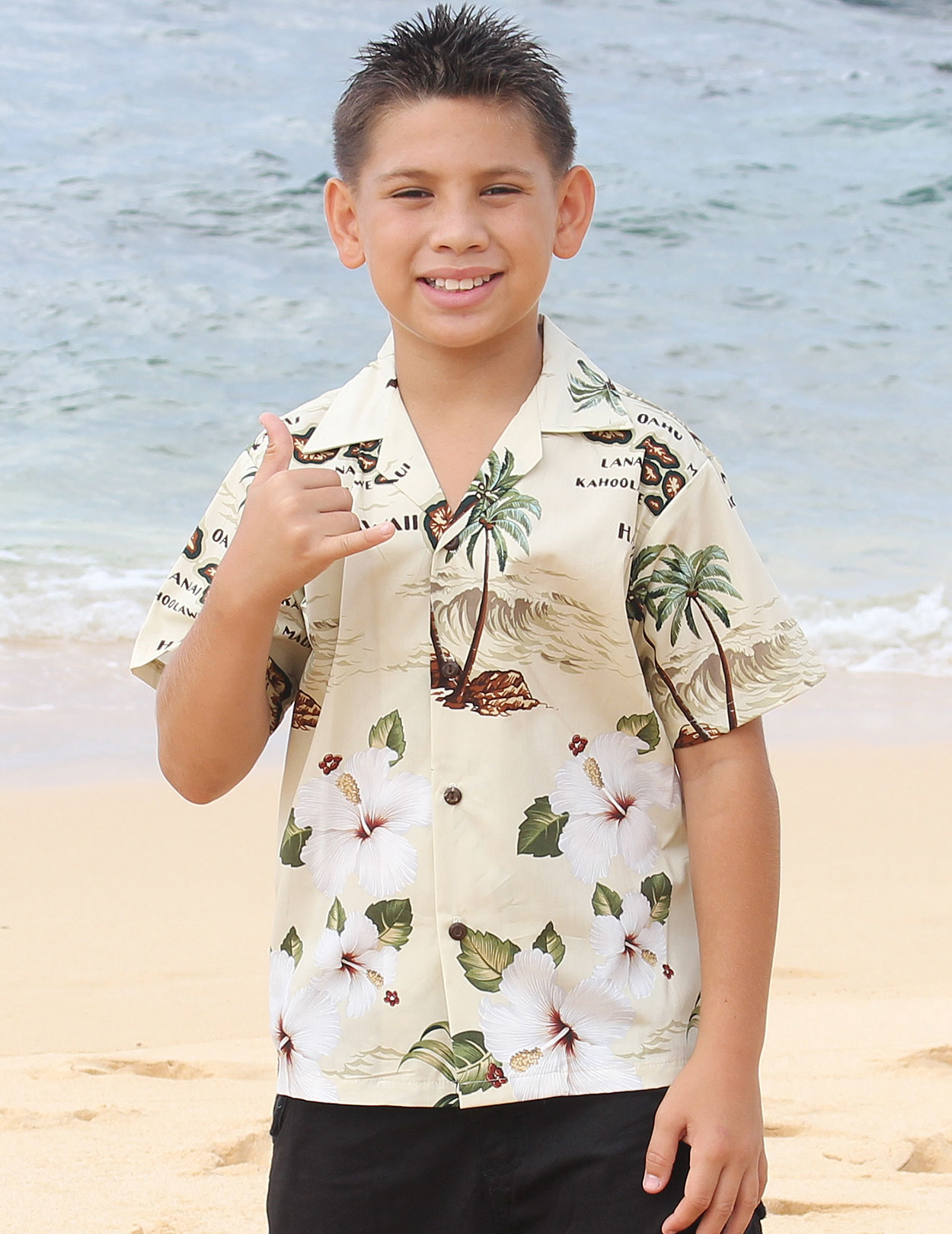 Boys Hawaiian Shirt Mokupuni Shaka Time Hawaii Clothing Store