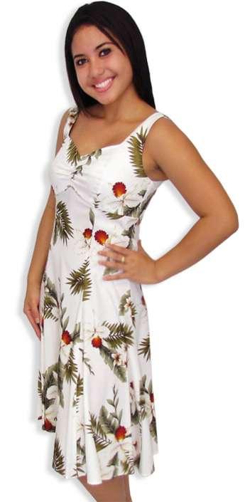 80ed3b672f4 White Hanapepe Midi Hawaiian Sundress