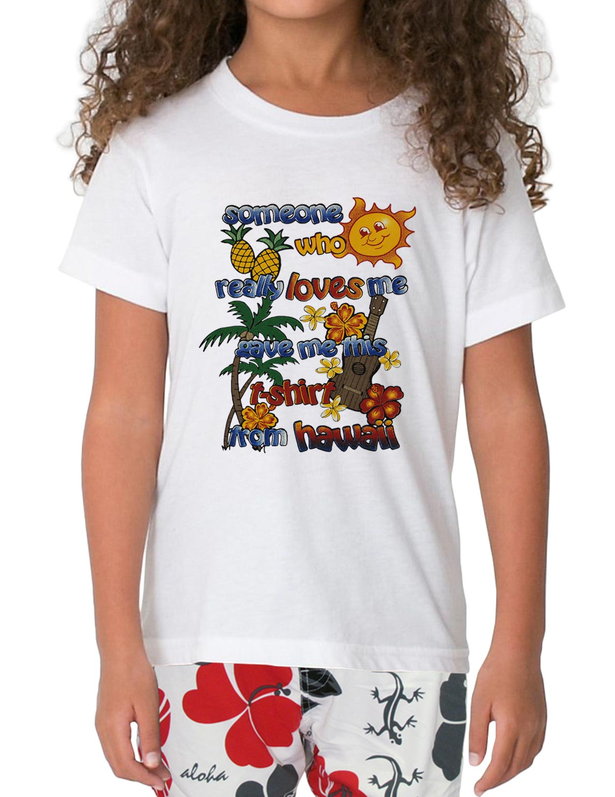I love you from hawaii kids t shirt shaka time hawaii for Hawaiian graphic t shirts