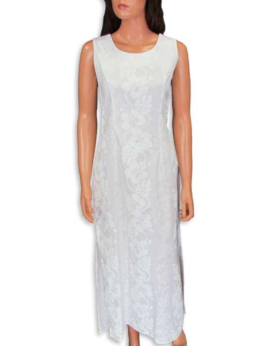 Maxi A-LIne Hawaiian Wedding Dress Sleeveless: Shaka Time Hawaii ...