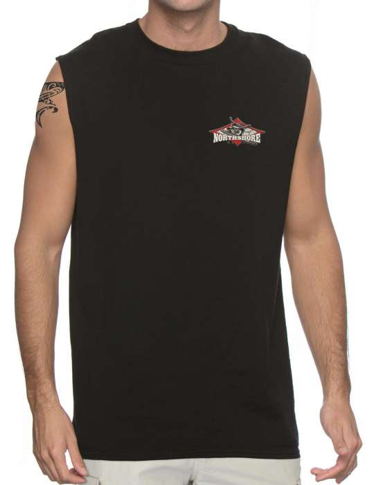 54e0ed94 North Shore Hawaii Surfing Muscle Tee: Shaka Time Hawaii Clothing Store