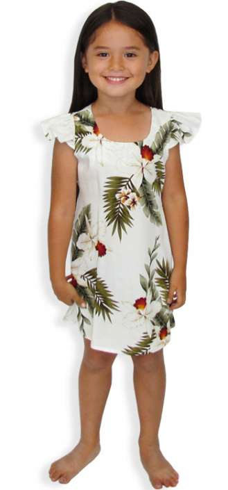 22ee5f14fc4 Girls Hawaiian Orchids Sundress Hanapepe