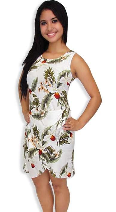 92829b06999 Sarong Dress in Rayon Hanapepe Orchids