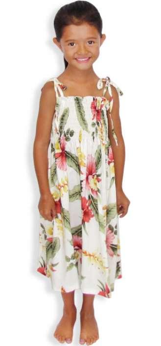 a4c3e7b9744e Girls Smock Tube Top Dress Orchid Pua: Shaka Time Hawaii Clothing Store