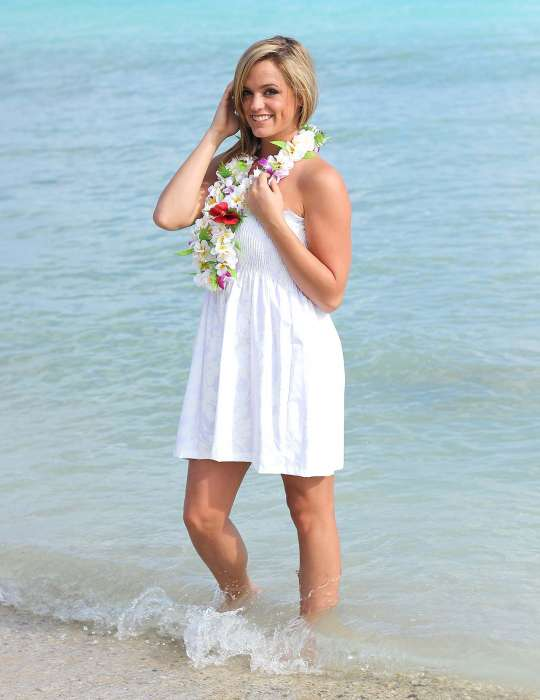 White Short Wedding Hawaiian Dress Smock Top: Shaka Time Hawaii ...