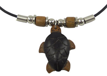 Wood carved turtle honu pendant with choker necklace shaka time wood carved turtle honu pendant with choker necklace aloadofball Choice Image