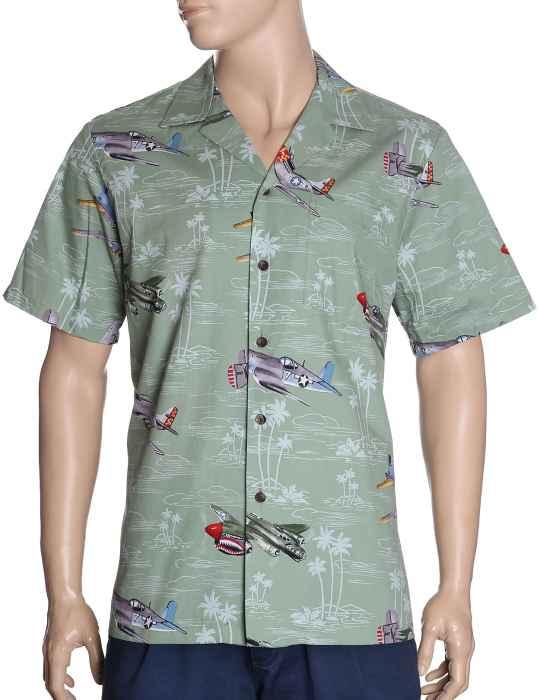 c1bd547f Airplane Fighters Paradise Aloha Shirt: Shaka Time Hawaii Clothing Store