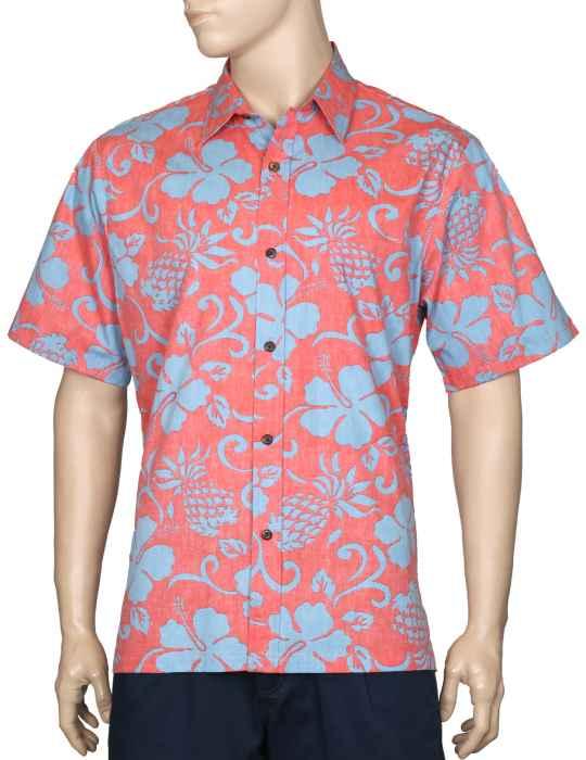 9a5daf9a8151dc Pineapple Land Button Up Dress Aloha Shirt  Shaka Time Hawaii Clothing Store
