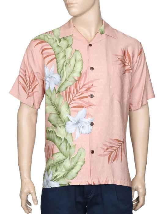 f95e0c53e6b56 Aloha Hawaii Shirt Elegant Orchid Panel: Shaka Time Hawaii Clothing Store
