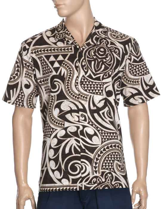 Tribal Tattoo Aloha Shirt: Shaka Time Hawaii Clothing Store