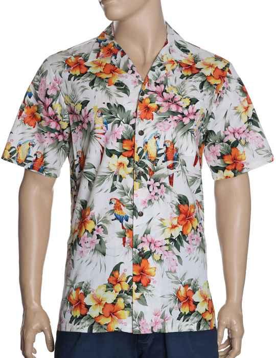 1a5d384c6d1395 Aloha Shirt Brazilian Parrots: Shaka Time Hawaii Clothing Store