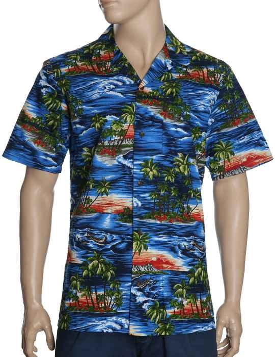 442f908c Red Sunset Hawaiian Shirt: Shaka Time Hawaii Clothing Store