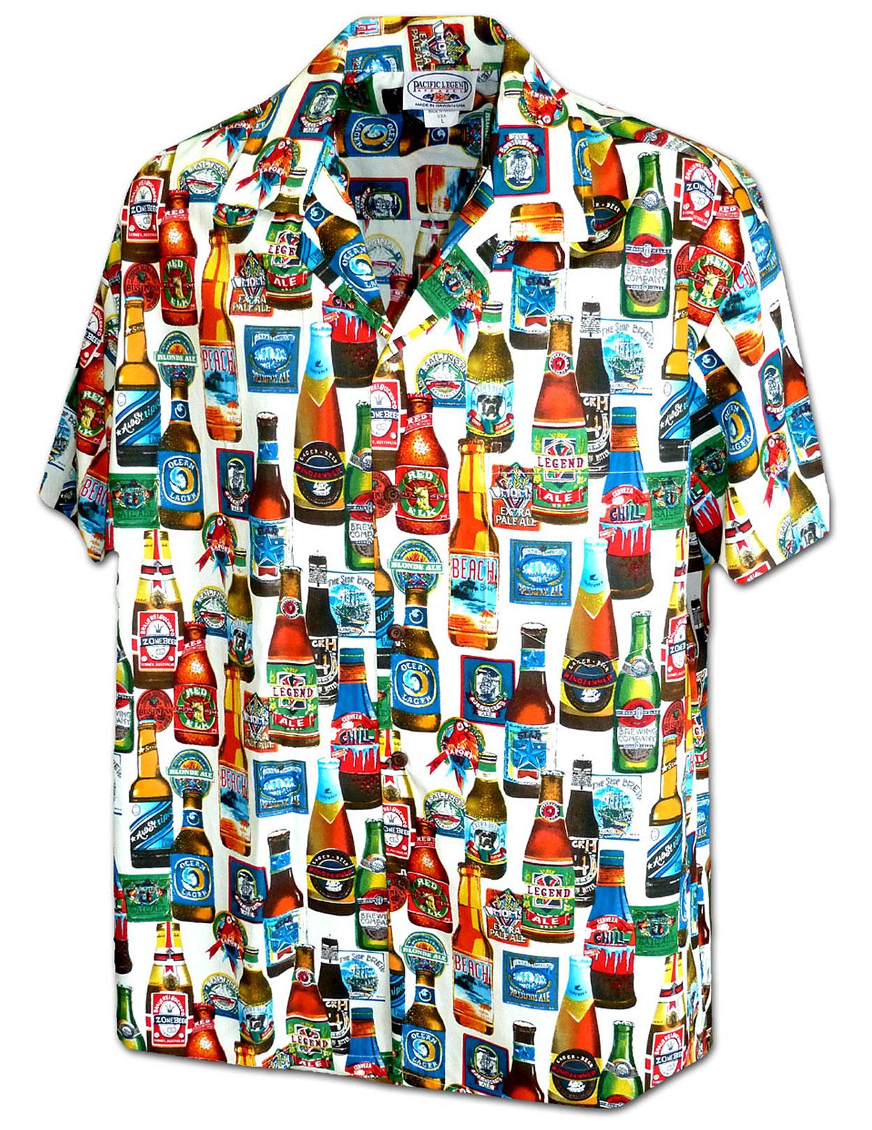Parrot Bartender Aloha Shirt: Shaka Time Hawaii Clothing Store