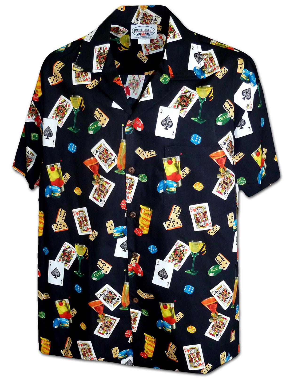 Poker Hand Aloha Shirt Shaka Time Hawaii Clothing Store