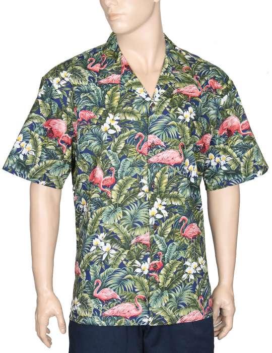 7190849a Flamingo Land Aloha Shirt: Shaka Time Hawaii Clothing Store