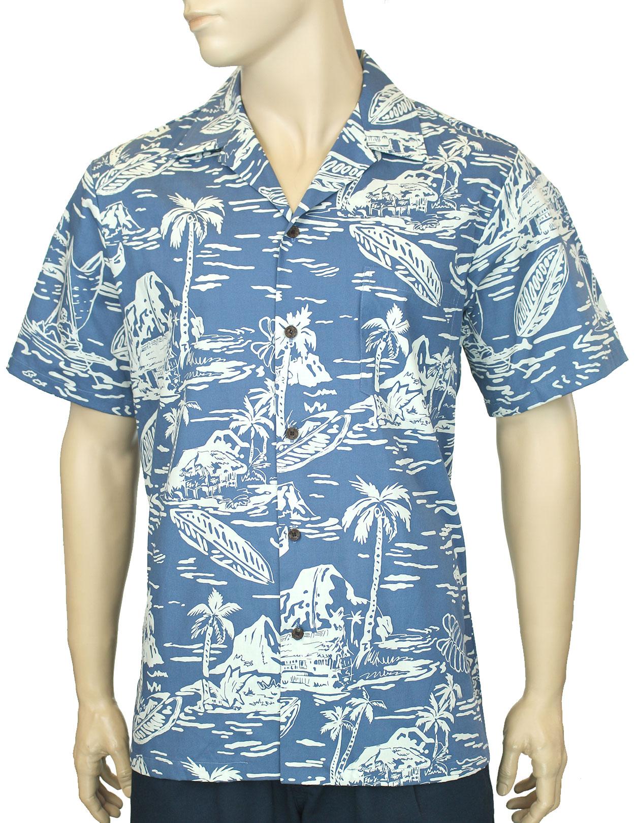 Pacific Legend Boys Hawaiian Shirts Island Maps