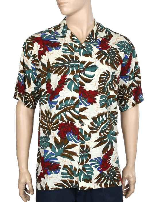 dd36cc5e59 Hawaiian Shirt Rayon Red Ginger