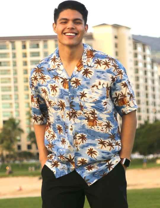 71941e5e Rayon Aloha Shirt Tropical Shack: Shaka Time Hawaii Clothing Store