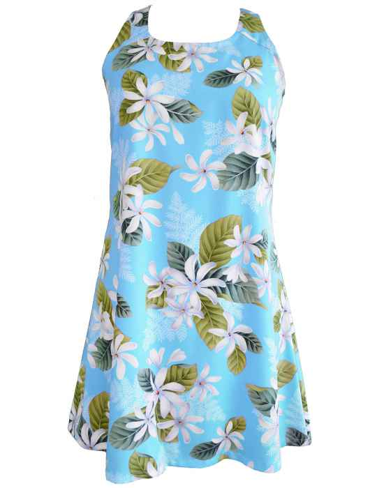 d246022f34a0 White Tiare A-Line Short Hawaiian Dress Back Cutout with Tie: Shaka Time  Hawaii Clothing Store