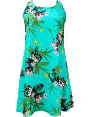 0a3f6c20e8b5 A-Line Hawaiian Dress Back Cutout with Tie Mini Orchids