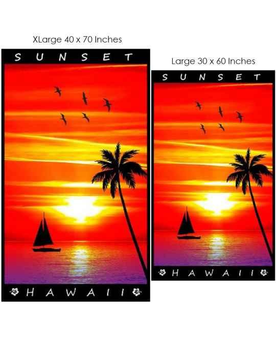 Hawaii Sunset Soft Beach Towel