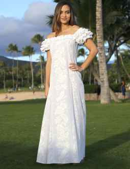 Superb Beach Wedding Hawaiian Dress Honolulu Floral Design