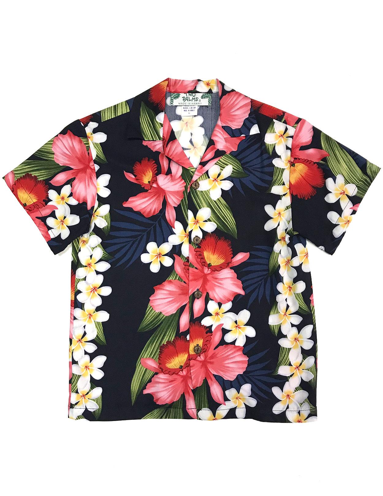 dcb3d820a6d Boys Hawaiian Shirt Plumeria Orchid Panel  Shaka Time Hawaii Clothing Store