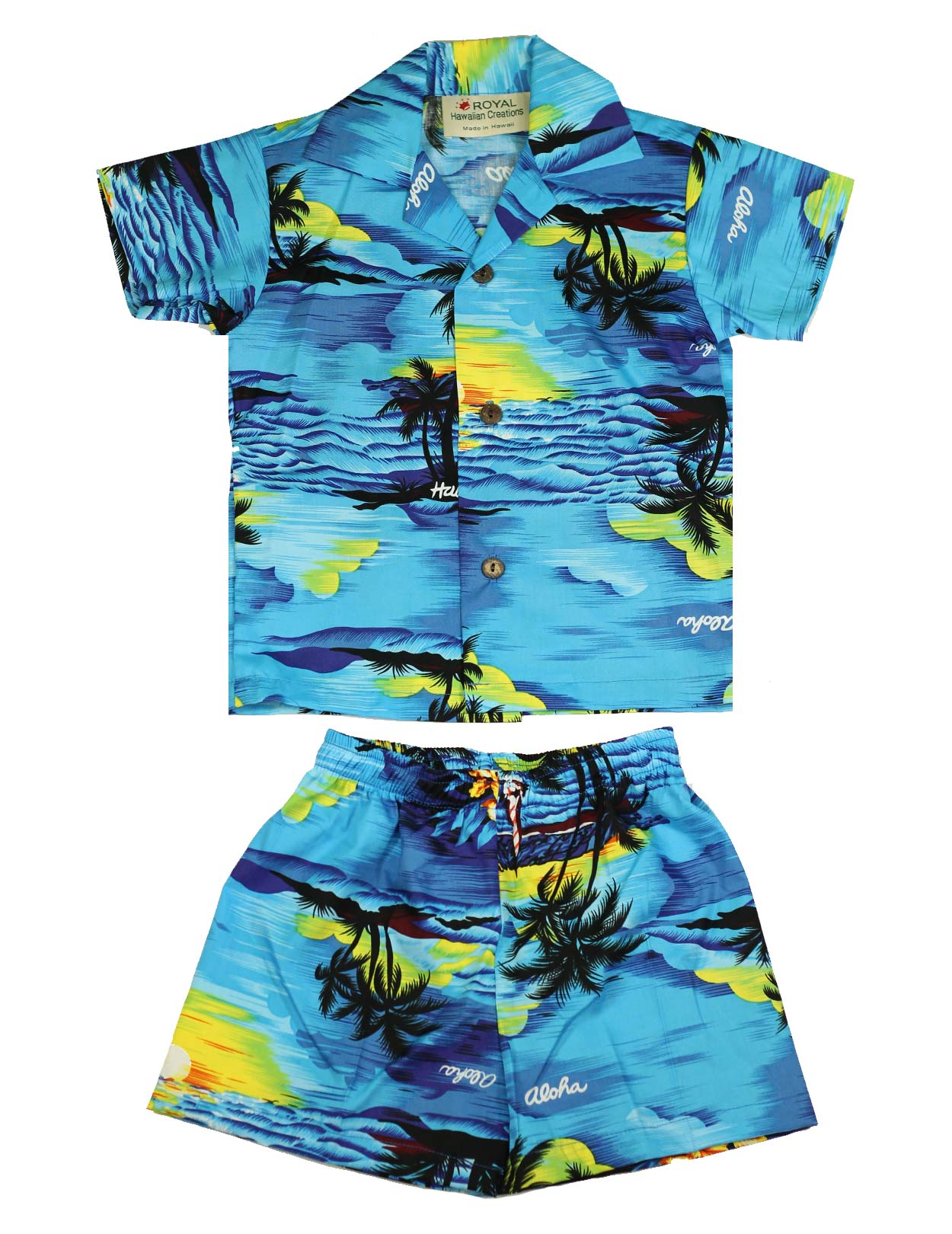 Hawaiian Boys 2 Piece Cabana Set Island Luau Shaka Time Hawaii Clothing Store