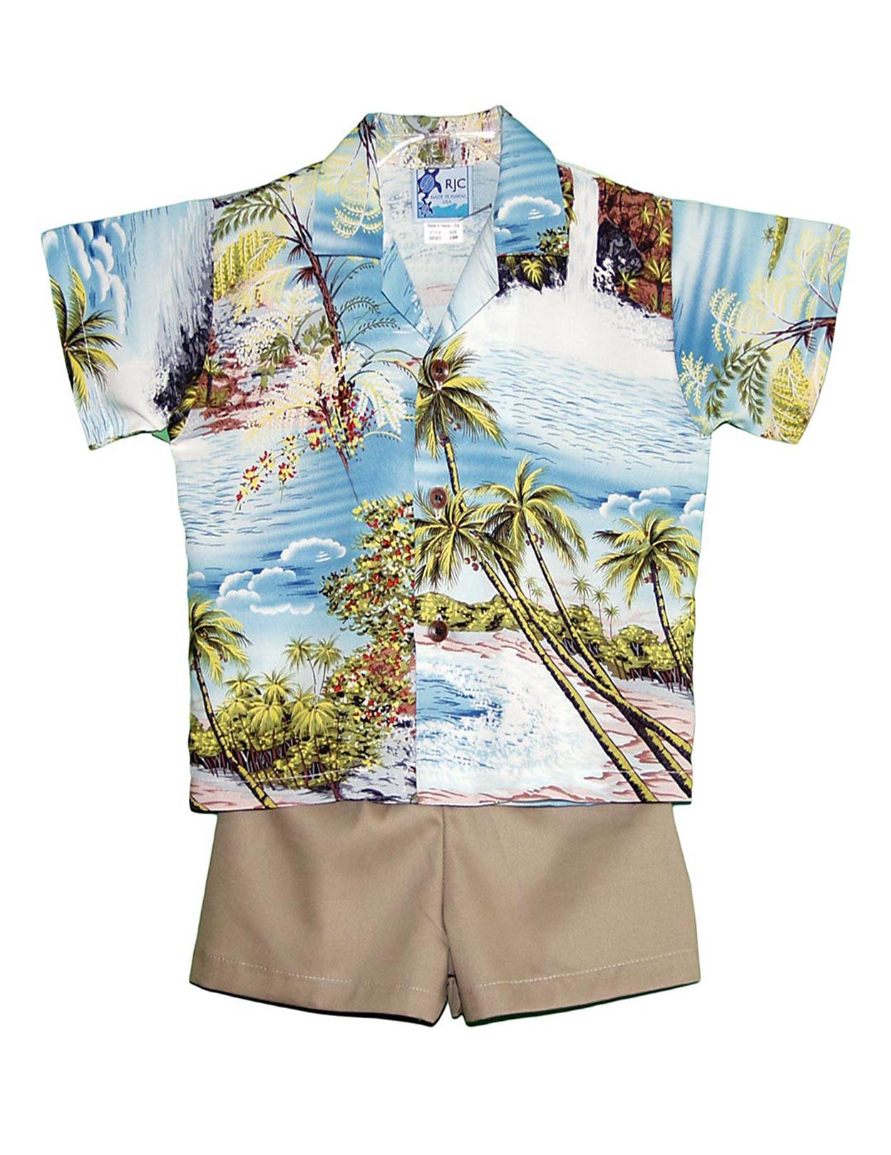 05ebcc8c66 Hana Hou Boy's 2 Piece Hawaiian Rayon Cabana Set: Shaka Time Hawaii  Clothing Store