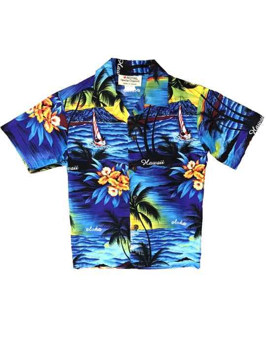 8bc54a58e Boy's Aloha Shirt Sunset Luau: Shaka Time Hawaii Clothing Store