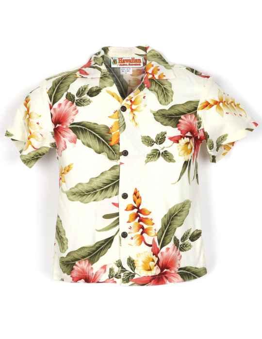 1b510c2d3874 Orchid Pua Boys Rayon Hawaiian Shirt: Shaka Time Hawaii Clothing Store