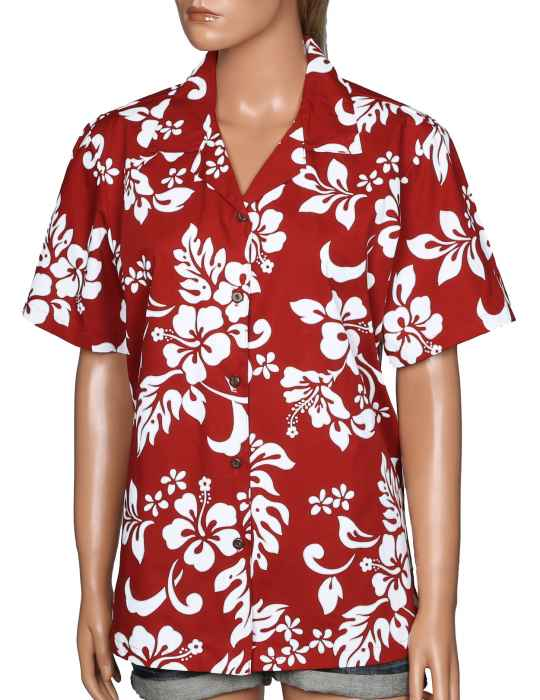 ead6178c Island Hibiscus Women Camp Hawaiian Shirt: Shaka Time Hawaii Clothing Store