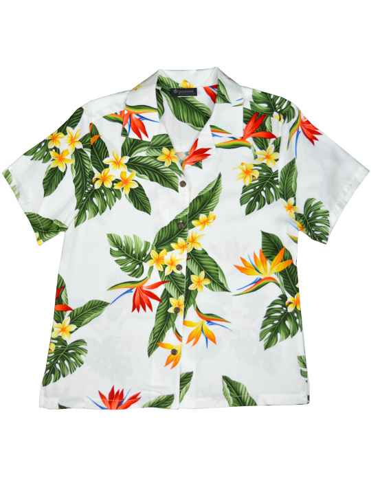 a96623a9 Birds of Paradise Camp Shirt for Women: Shaka Time Hawaii Clothing Store