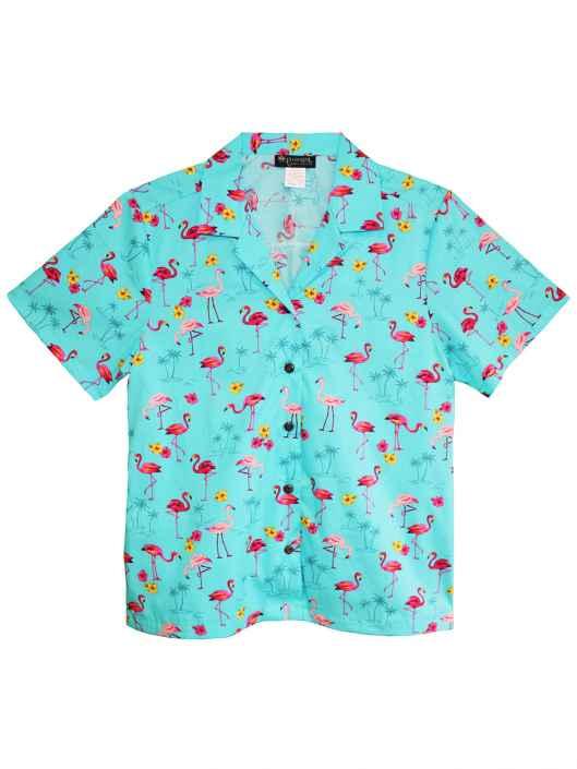 b7a81ed13ef569 Camp Women's Shirt Flamingo Time: Shaka Time Hawaii Clothing Store