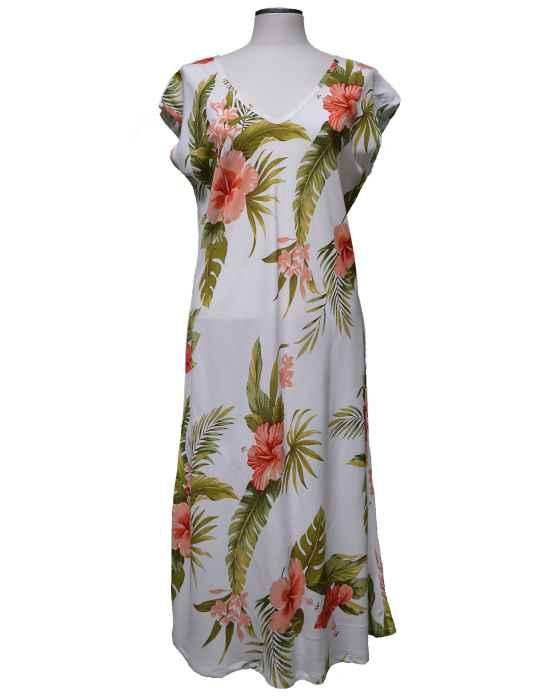 402ebdf888 Hibiscus Galore Knee Length Hawaiian Dress: Shaka Time Hawaii Clothing Store