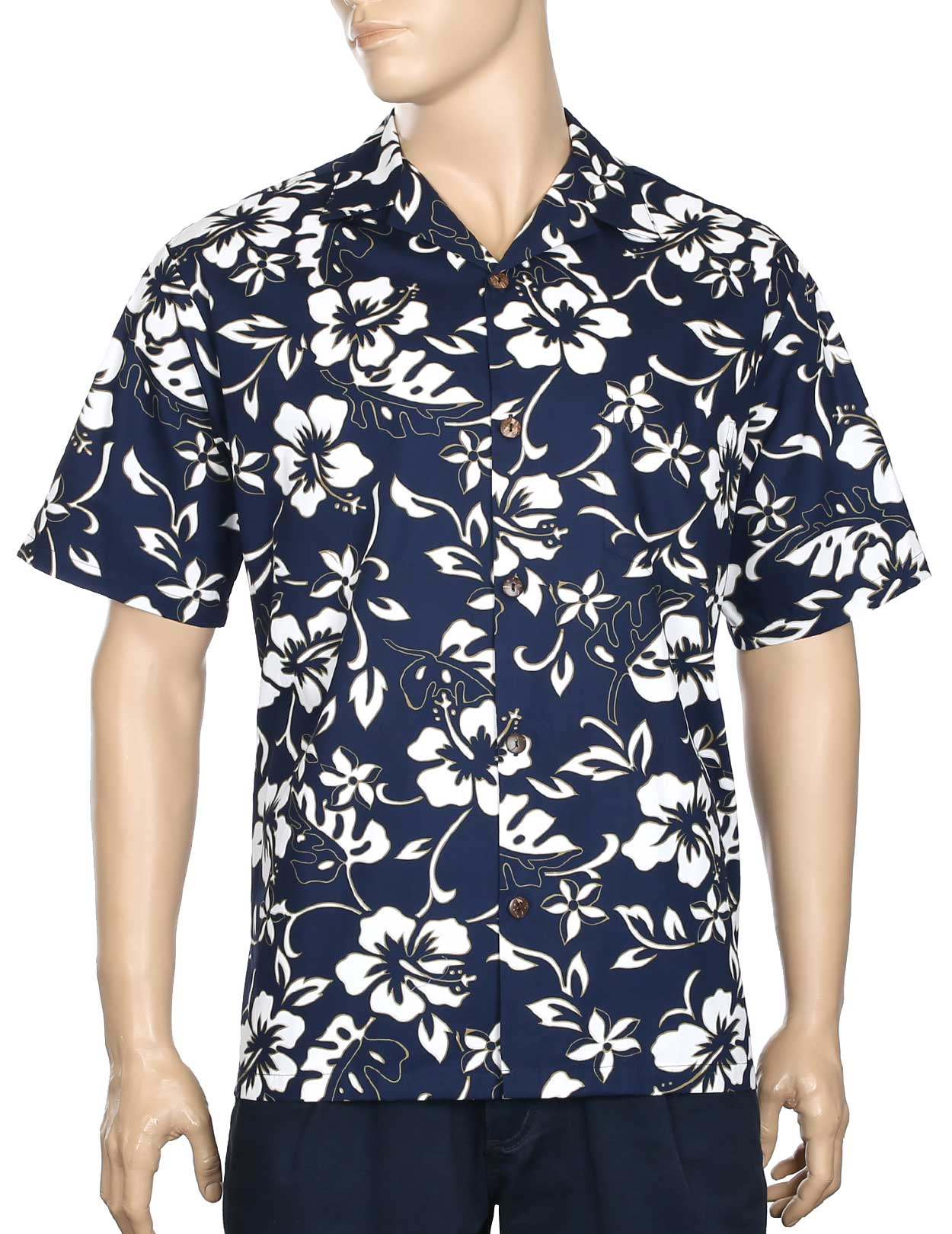 ecc73edc Classic Hibiscus Pareo Aloha Shirt Quick View. Classic Hibiscus Pareo Aloha  Shirt. $39.95 · Pineapple Panel Hawaiian Shirt