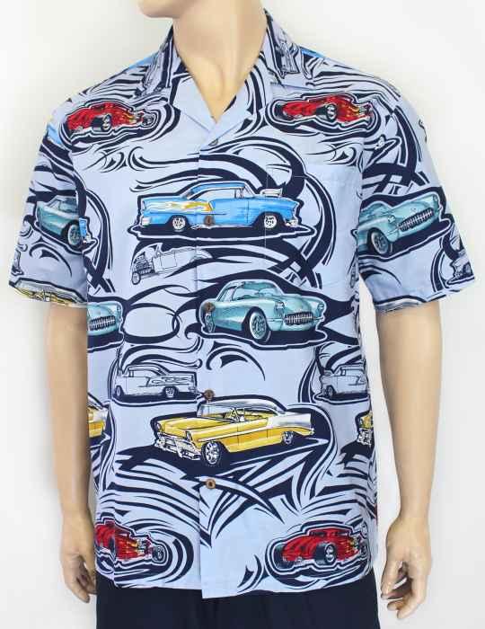 Hot Rod Shop Dream Cotton Aloha Shirt: Shaka Time Hawaii