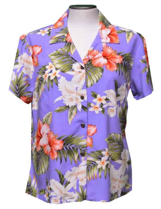 a0699183929 Pupukea Hibiscus Rayon Hawaiian Blouse  Shaka Time Hawaii Clothing Store