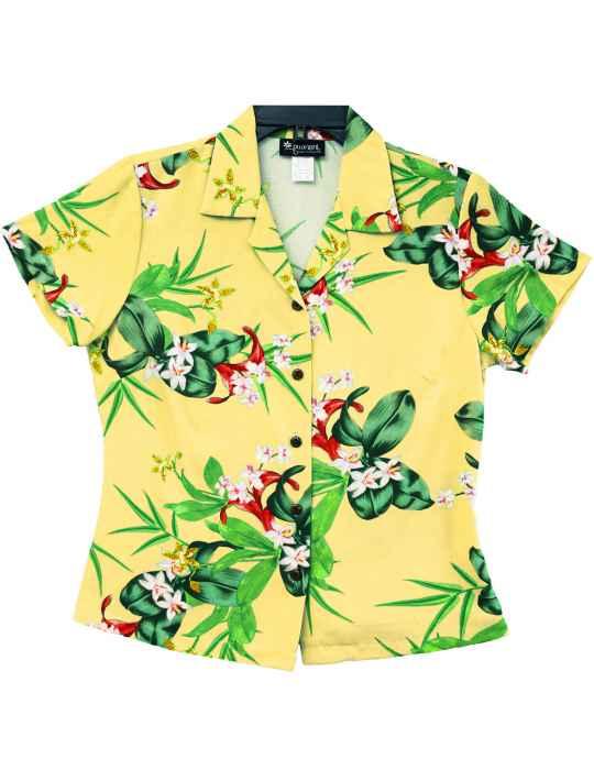 bf98f5f1 Mini Orchids Hawaiian Blouse: Shaka Time Hawaii Clothing Store