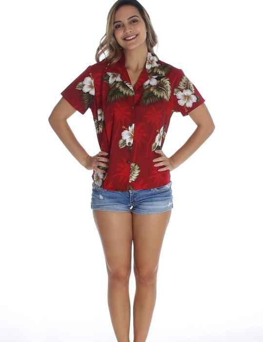 e1dc8d1b2a77 Ka Pua Hibiscus Fitted Blouse: Shaka Time Hawaii Clothing Store