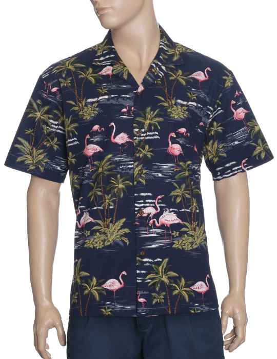 8dddf4222b4c52 Hawaiian Shirt Flamingo Ohana: Shaka Time Hawaii Clothing Store