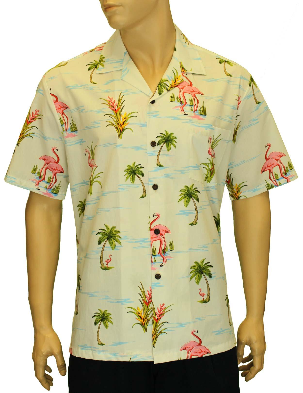 5a06af0bc57794 Florida Flamingos Tropics Hawaiian Shirt: Shaka Time Hawaii Clothing Store